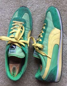 PUMA Sneakers Whirlwind Classic Runners Green VNTG Retro Men's Size 13  | eBay