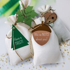 These Woodland themed favor tags are great to tie around gift bags for your kid's next birthday party.