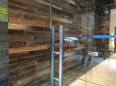 #reclaimed wood walls at a commercial space