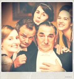 Downton Abbey cast. This is perfect on so many levels.