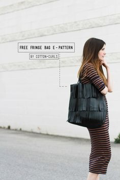 Free downloadable fringe bag E-Pattern | Cotton and Curls