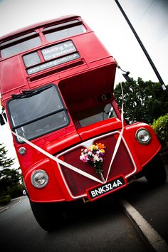 We hired a vintage double decker bus to travel on with our guests.
