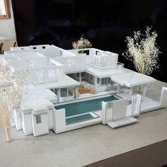 Maquette Architecture, Futuristic Architecture, School Architecture, Architecture Models, Building Exterior, Building Design, Architectural Scale, Arch Model, Zaha Hadid