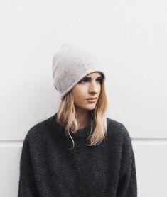 Cos cashmere beanie   Acne Studios mohair knit. Via Mija Mood 8b00ef6d48ce