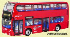 Alexander Dennis Enviro 400 Company Stagecoach London Route 174 to Dagenham Marsh Way Registration LX11 AZR Fleet Number 19729 Scale 1 76 Model