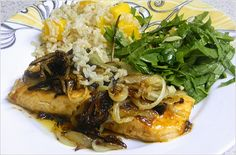 BIZZY BAKES: Spicy Salmon with Caramelized Onions