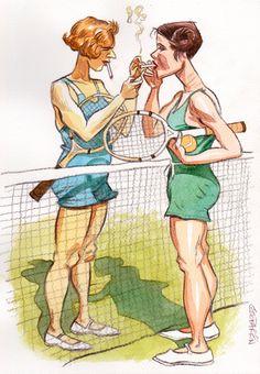 Tennis Smokers by Geo Parkin