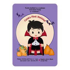 #Little Dracula Invitation - #Halloween happy halloween #festival #party #holiday