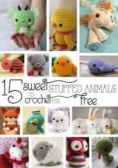 15 Sweet Stuffed Animals to Crochet for Free | Imagine