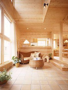 玄関がわりになる土間と大きな吹き抜けが家族の絆を育む家|間取りプラン