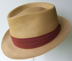 Vintage Deco Mens Panama Hat Old Store Stock 6 by marvita13, $168.00