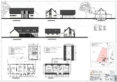 Cabin Design, House Design, House Viewing, Print Layout, New House Plans, Architecture Plan, Bungalows, Tiny House, New Homes
