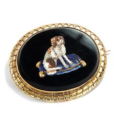 Micro Mosaic Brooch from Italy: King Charles Spaniel um 1860 Micromosaic Brooch King Charles Spaniel, Grand Tour, Gold Art, Rocks And Minerals, Black Glass, Fashion Jewelry, Bling, Jewels, Ebay