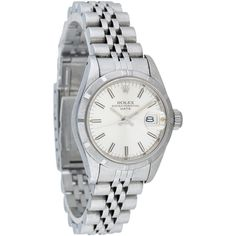 Pre-owned Rolex Datejust Watch (760 KWD) ❤ liked on Polyvore featuring jewelry, watches, crown bracelet, stainless steel jewelry, bracelet watches, engraved bracelet and preowned watches
