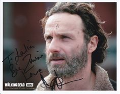 Andrew Lincoln, Rick Grimes on the Walking Dead. Autograph from Walker Stalker Con Atlanta 10-19-14