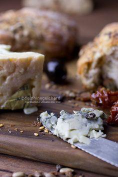 Pain maison : bleu, noix, olives, tomates (sans pétrissage) - Cook'n Focus