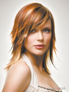 hairstyles for redheads with highlights | 2005 highlights asymmetric hairstyle | Hairstyle GalleryHairstyle ...