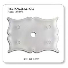 Rectangle Scroll Plaque Cutter by JEM ** To view further for this item, visit the image link.