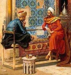 The Chess Game - Arabic Art - Handmade Oil Painting On Canvas Jean Leon, Empire Ottoman, Middle Eastern Art, Arabian Art, Kairo, Turkish Art, Ludwig, Chef D Oeuvre, Arabian Nights