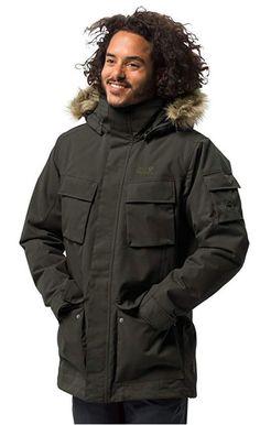 Jack Wolfskin Men's Glacier Canyon Parka Waterproof Insulated Field Jacket #parka #jacket #waterproofjacket #menclothing #menfashion #winterfashion #menjacket