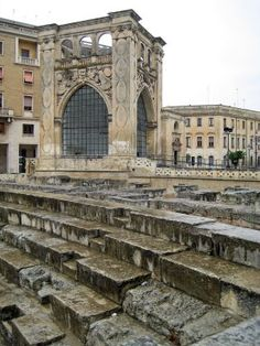 The ruins in Lecce, Province of Lecce, Puglia region Italy