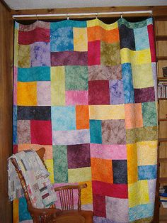 TURNING TWENTY QUILT KIT W/ HAND DYED FABRIC & PATTERN BOOKLET
