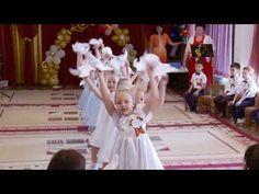 Танец голубей на выпускном утреннике. Май  2017 год . Pre School, Kindergarten, Flower Girl Dresses, Youtube, Kids, Monkey Puppet, Design, School, Activities