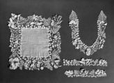 The varieties of plant forms and flowers represented, their naturalism and the  three-dimensionality set this extraordinary example of Irish crochet lace apart from the more static designs of later examples