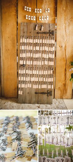 Decoracion de boda con llaves #weddingdecor #bodas #bodasvintage