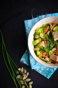 Frango do Campo: Tofu com legumes