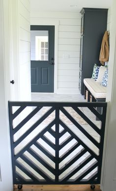 Pocket gate for mudroom. See MUDROOM TOUR.