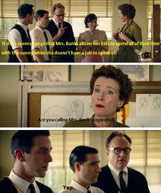 Saving Mr. Banks Honestly I just finished the book and yes I believe she was neglectful. Her nanny just quit and she has no one to take care of the children, but she goes to dinner anyway.