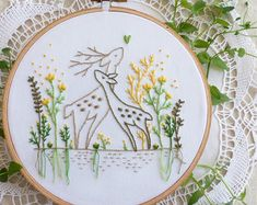 Embroidery Kit Hand embroidery Flying Fairy by TamarNahirYanai