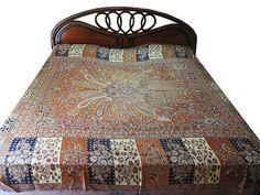 Orange Reversible Cashmere Wool India Bedding Bedspread Queen Bed Cover Blanket | eBay