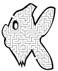 Fish Maze: Free Printables for Kids Mazes For Kids Printable, Fun Worksheets For Kids, Puzzles For Kids, Free Printables, Spelling Activities, Book Activities, Preschool Activities, Bible Tools, Coloring Letters
