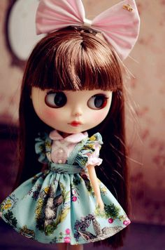 1 : 6 Scale BlytheBunny Print Dresses | Doll Apparel | Doll Fashion | Doll Dress | Blythe Outfit You should know dolly are easy to get stained. Please do some protection if you wear something in dark