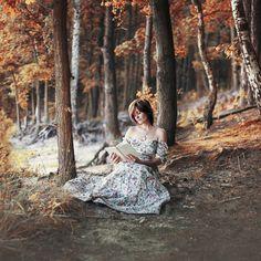 Mod. Patrycja Woźniak  #photo #photography #ideas #book #lover #vintage #dress #girl #forest #autumn #colors #magic #photographer #old #fairytale