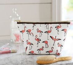 Flamingo Cosmetic Pouch | Pottery Barn