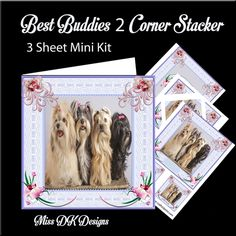 Best Buddies 2 Birthday on Craftsuprint designed by Miss DK Designs - We all know mans best friend is the dog. This series of mini Kits…