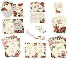 Love letters wedding stationery www.paperwillow.com
