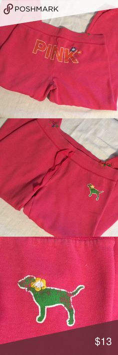 Victoria's Secret sweats Your every day worn in cutie sweats. In good condition  Nonsmoker seller  20% off 3 or more items! PINK Victoria's Secret Pants Track Pants & Joggers