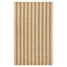 Display this hand-woven jute rug in your entryway or living room-its versatile striped design and warm tan palette lend eye-catching appeal to any decor.