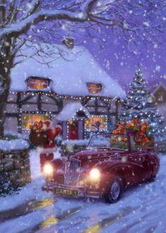 Winter Christmas Scenes, Merry Christmas Pictures, Christmas Scenery, Merry Christmas Images, Magical Christmas, Noel Christmas, Christmas Wishes, Christmas Greetings, Beautiful Christmas