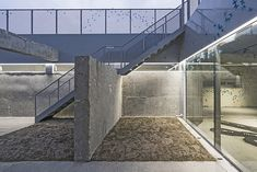 CoRe Architects converts Korean tank bunker into community arts centre Cultural Center, Bunker, Community Art, Interior Architecture, Concrete, Core, Stairs, Military, Culture