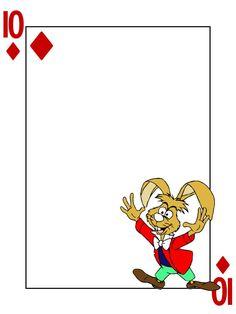 Tarjeta Diario - Liebre de Marzo - Alicia en el país de las maravillas - Naipe - 3x4 foto dis_573_MarchHare_playingcard_3x4.jpg