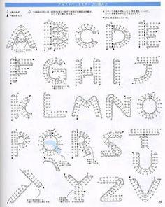 Crochet Letters of Alphabet Moogly Crochet, Crochet Gratis, Crochet Motifs, Crochet Diagram, Crochet Chart, Crochet Toys, Crochet Stitches, Crochet Patterns, Crochet Symbols
