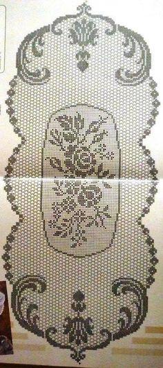 dantel-i şahane filet crochet Crochet Tablecloth Pattern, Crochet Motif Patterns, Filet Crochet Charts, Crochet Cross, Crochet Art, Thread Crochet, Vintage Crochet, Crochet Designs, Crochet Doilies