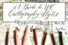 This blog post was written to give you the story behind all the TPK calligraphy styles, and to help you to decide which styles are best suited for you.