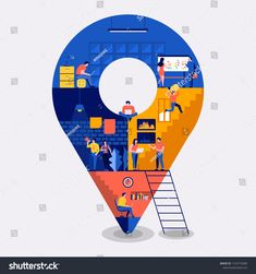 Create by small business people working inside. Design Ios, Layout Design, Site Design, Map Geo, Work Icon, Design Responsive, Location Pin, Page Web, Building Icon