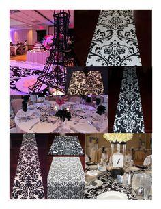 grecas de color negro en las mesas!